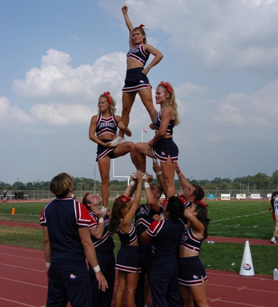 The gallery for --> Middle School Cheerleader Stunt