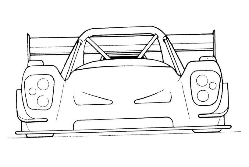 Attractive Car Drawing Outline